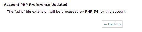 mensajeDeConfirmacion Actualización de servidores a la versión default de PHP 5.4